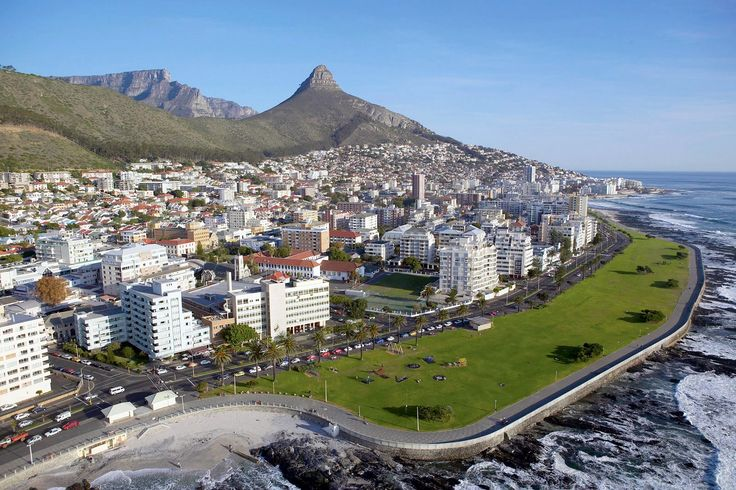 Aerial view of Sea Point, Cape Town