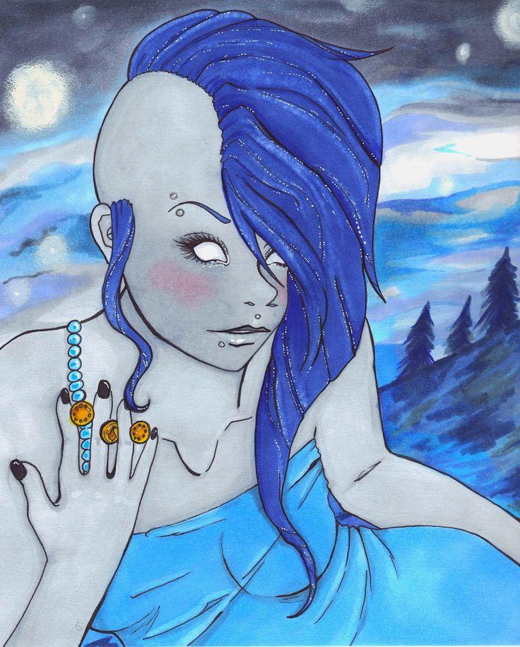 #Greek #Goddess #Nyx ORIGINAL illustration #art #thecraftstar $200.00