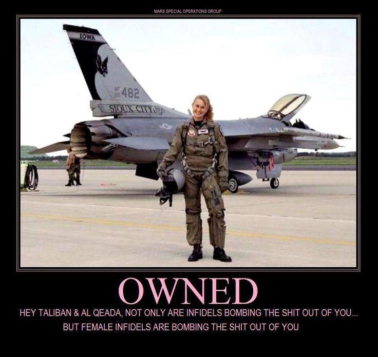 army navy marines f16 female pilot owned epic afghanistan muslim islam terrorist 72 virgins humor funny Obama is a Socialist