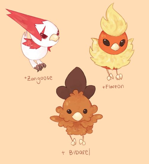 """kftbrs: """"torchic variations! the program crashed once on me while doing this u-u but everything turned out okay!!! i was watching an ulti game in the bg and that was nice,, i didnt get to see much of it but now i associate small chicken pokemon with..."""