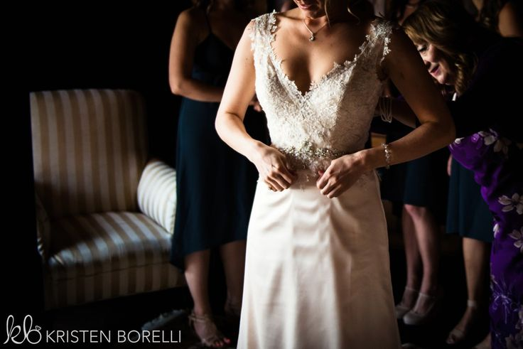 Thetis Island Overbury Resort Wedding. Lace and satin wedding dress.