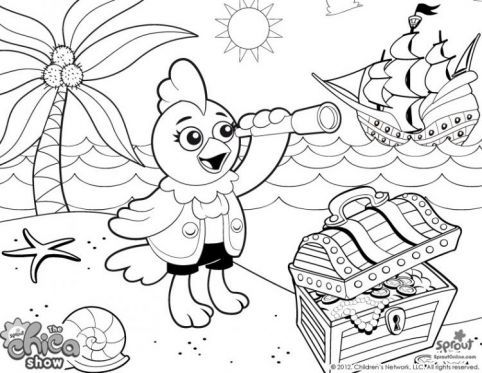 sprout character coloring pages | Kelly Chica Show Coloring Page Coloring Pages