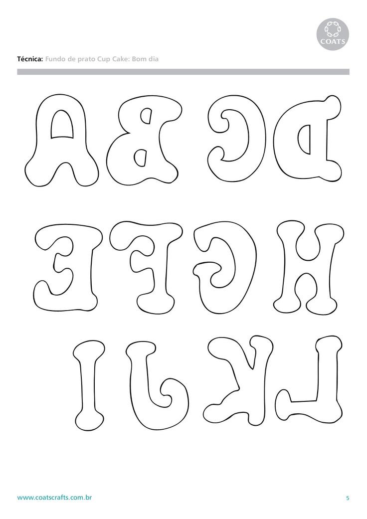 letras para aplicacao tecido