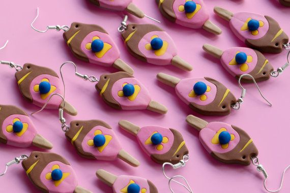 Bubble O'Bill Ice-Cream Earrings Large | by Molly Coombs Marr on Etsy | Australiana | Jewellery Design