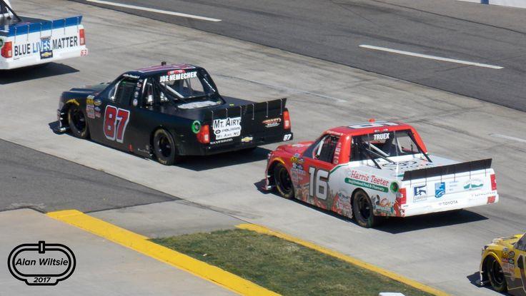 Joe Nemechek and Ryan Truex at Martinsville Speedway - Photo by Alan Wiltsie
