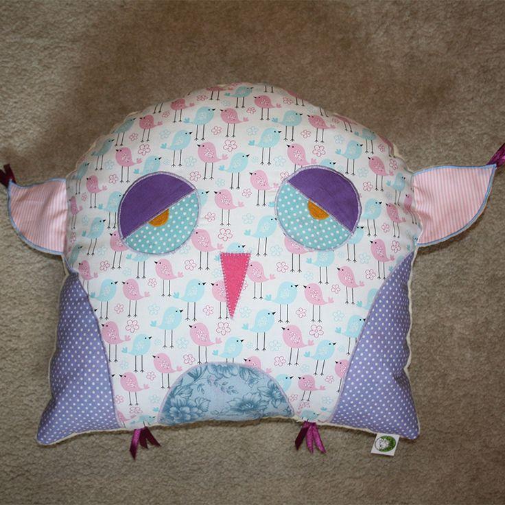 Owl pillow with blue birds 2015. www.masnimesi.net
