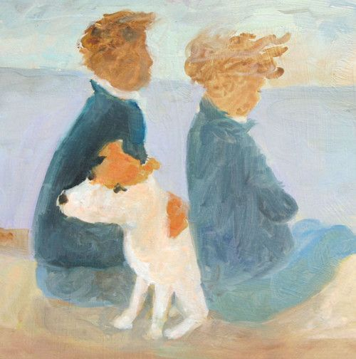 'Thinking Of Chips' By Painter, Tessa Newcomb. Blank Art cards By Green Pebble. www.greenpebble.co.uk
