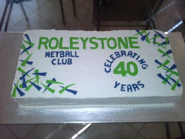 40 years celebration cake for Roleystone Netball Club