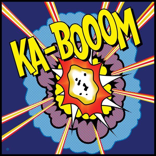 Ka Boom Pop Art Canvas Print by Gary Grayson | Society6
