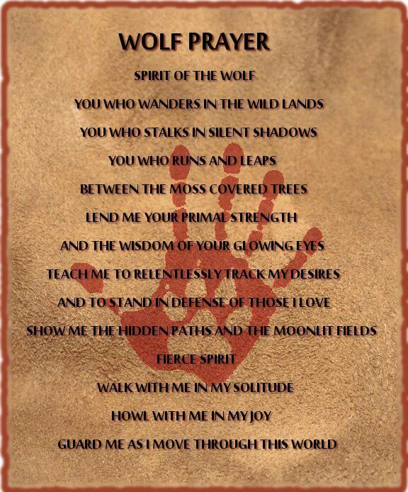 Wolf prayer | Native American Prayers, Blessings and Poems ... Prayer Quotes For Love