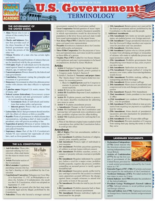 U.S. Government Terminology Download this review guide and improve your grades. #education #ebooks #studyguides #science #math #school #college #teaching #teachers #classrooms #lessonplans #nursing #books #downloads #backtoschool