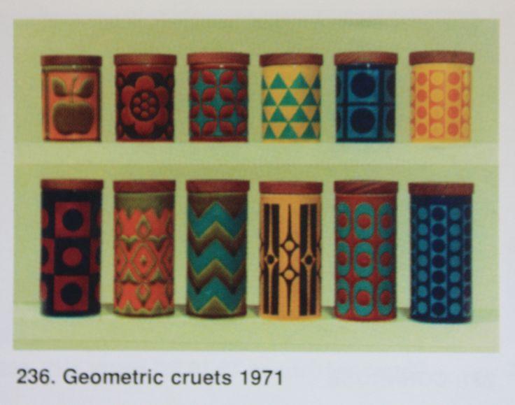 Hornsea Pottery Geometric Cruets 1971