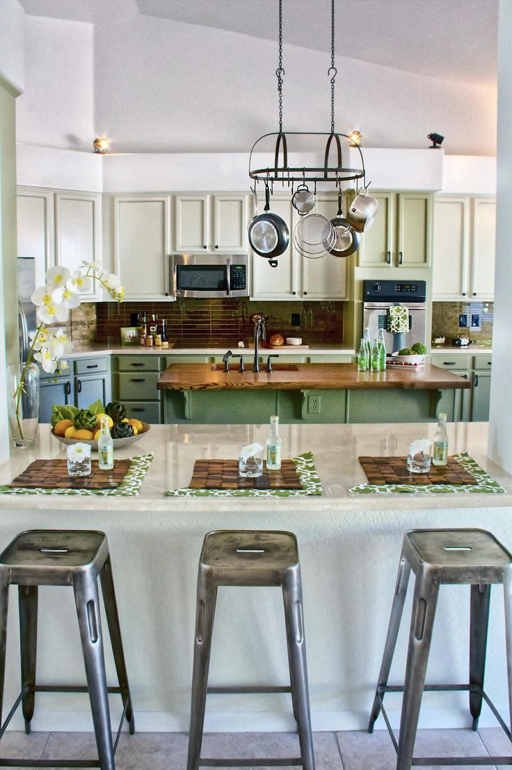 Unique Portable Kitchen Counter with Stools