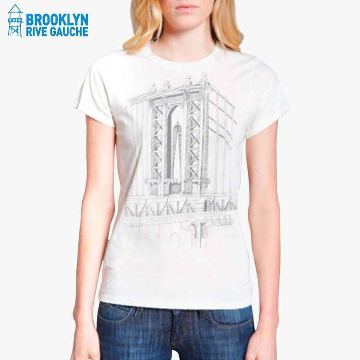 Tee shirt pont de Brooklyn - Brooklyn Industries #LeBonMarche #BrooklynRiveGauche #Brooklyn #ny #nyc #newyork #fashion #mode