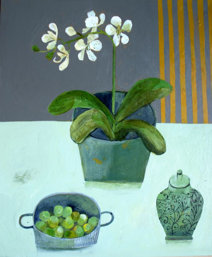 Este MacLeod Ginger jar acrylic on board