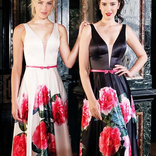 Celebrate the sunshine with these gorgeous  dresses that are sending us into a floral frenzy! Fabulous for both indoor festivities and outdoor events,the bright and bold pattern is complimented by a plunging neckline and cinched waist creating a look that is perfectly balanced.