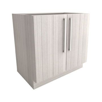 "Silhouette Collection x 2 Door Base Cabinet   | AVAILABLE IN: 24"" x 34 11/16"", 27"" x 34 11/16"", 30"" x 34 11/16"", 33"" x 34 11/16"", and 36"" x 34 11/16"" (Depth is 23 1/2"" for all options) 