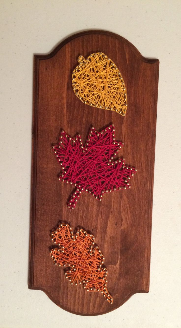 Fall leaves string art by HeartOnAStringShop on Etsy https://www.etsy.