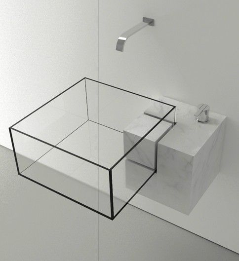 Think out of the box ... literally - very unique bathroom sink!  Victor Vasilev | Kub