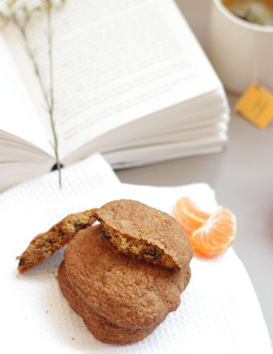 Galletas saludables de linaza, chocolate y nuez