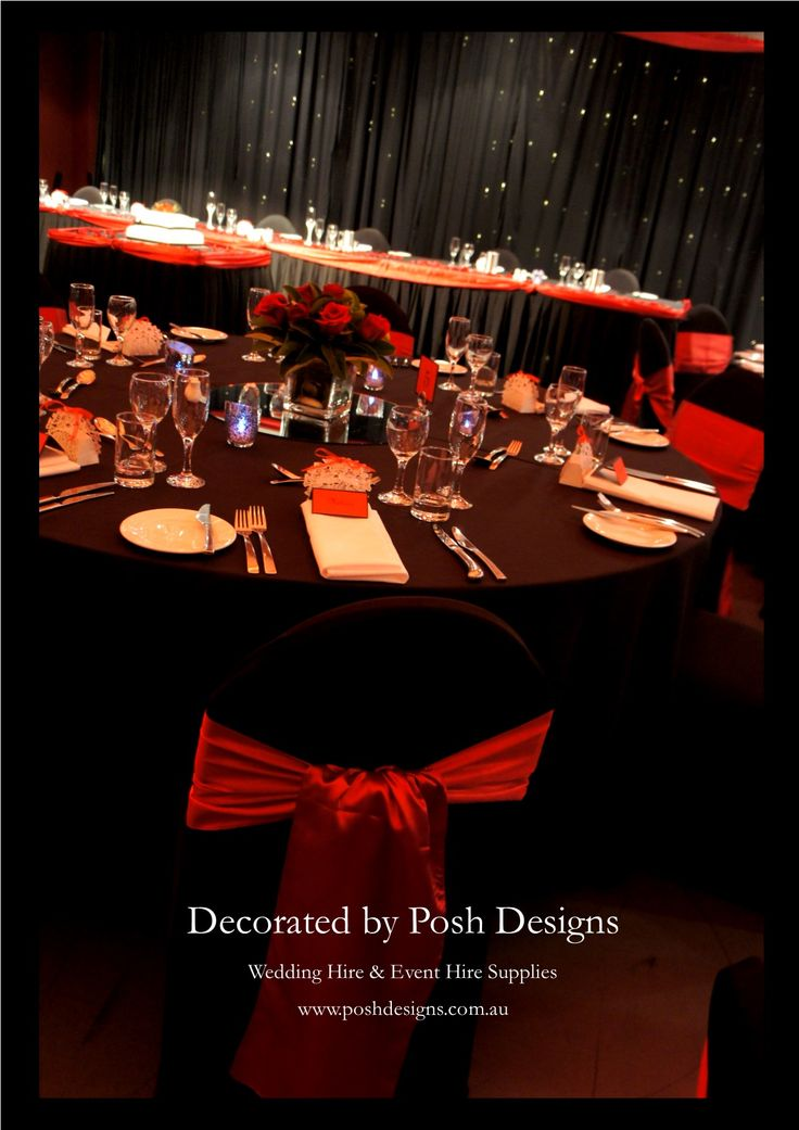 #redandblackwedding #wedding #theming available at #poshdesignsweddings - #sydneyweddings #southcoastweddings #wollongongweddings #canberraweddings #southernhighlandsweddings #campbelltownweddings #penrithweddings #bathurstweddings #illawarraweddings  All stock owned by Posh Designs Wedding & Event Supplies – lisa@poshdesigns.com.au or visit www.poshdesigns.com.au or www.facebook.com/.poshdesigns.com.au #Wedding #reception #decorations #Outdoor #ceremony decorations