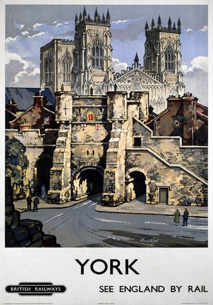 Visit York railway poster pinned by www.realyorkshiretours.co.uk
