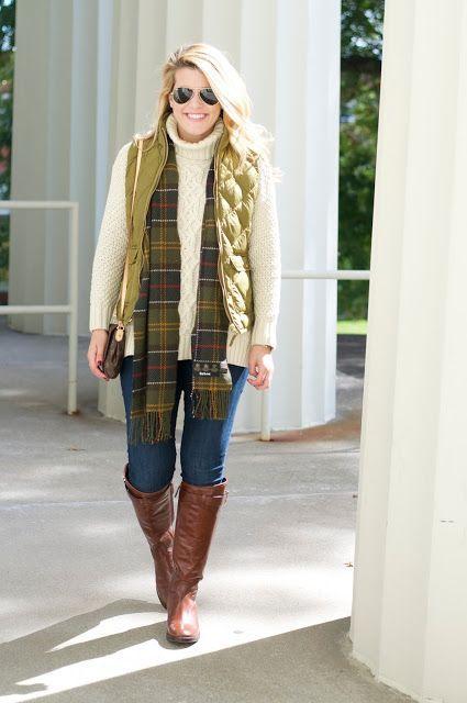Turtleneck Sweater + Vest + Riding Boots