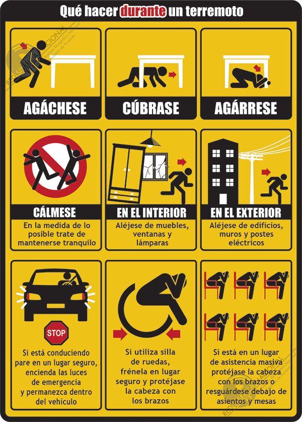 ¿Cómo actuar en la oficina en caso de un terremoto?