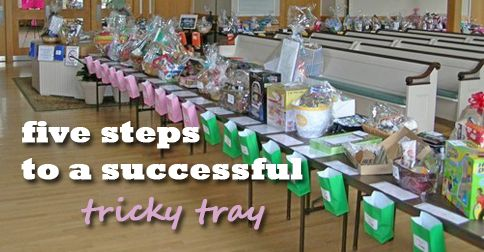 "You're organization needs to raise some funds and you've decided to do a tricky tray. Now what? Tricky trays, sometimes also known as ""Chinese"" auctions or Pick-a-Prize Raffles, are fundraisers that require attendees to purchase raffle tickets and drop them"