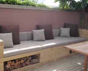 Outdoor couch......no wood underneath though, coz spiders would love it in there!!!!!!