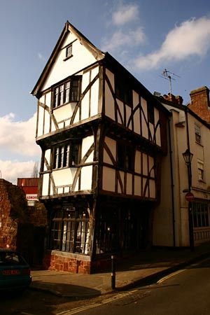 The Tudor Merchant's House in Exeter, Devon that moved shown here fully restored in 2005.