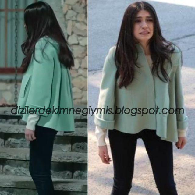 Medcezir - Eylül (Hazar Ergüçlü), Max&Co Green Coat