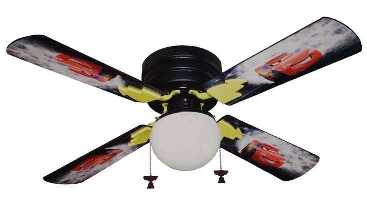 Kids Ceiling Fan Cars ~ http://makerland.org/kids-ceiling-fan-in-cute-design/