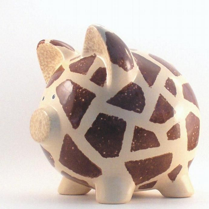 Personalized Piggy Bank - Giraffe Bank - Jungle Theme Piggy Bank - Safari Decor - with hole or NO hole in bottom by ThePigPen, $45.50 USD