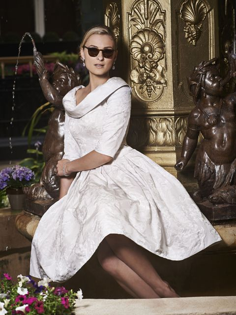 A timeless feminine Mother of the Bride & Mother of the Groom dress from the Portofino 2016 Collection by Ian Stuart London. This dress features a cowl neckline and has been designed using a flower jacquard fabric in a dove/off-white shade of colour. Product code ISL664.  View more Mother of the Bride / Groom dresses from our Ian Stuart collection at: http://www.baroqueboutique.co.uk/mother-of-the-bride-south-wales/  Photographs courtesy of:  http://www.ianstuart-london.com/