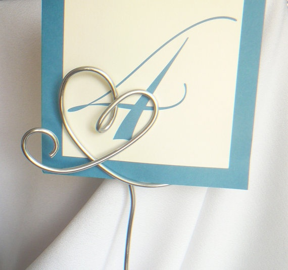 Tall Silver Table Number Holders With Glass by HomesAndWeddings, $20.00