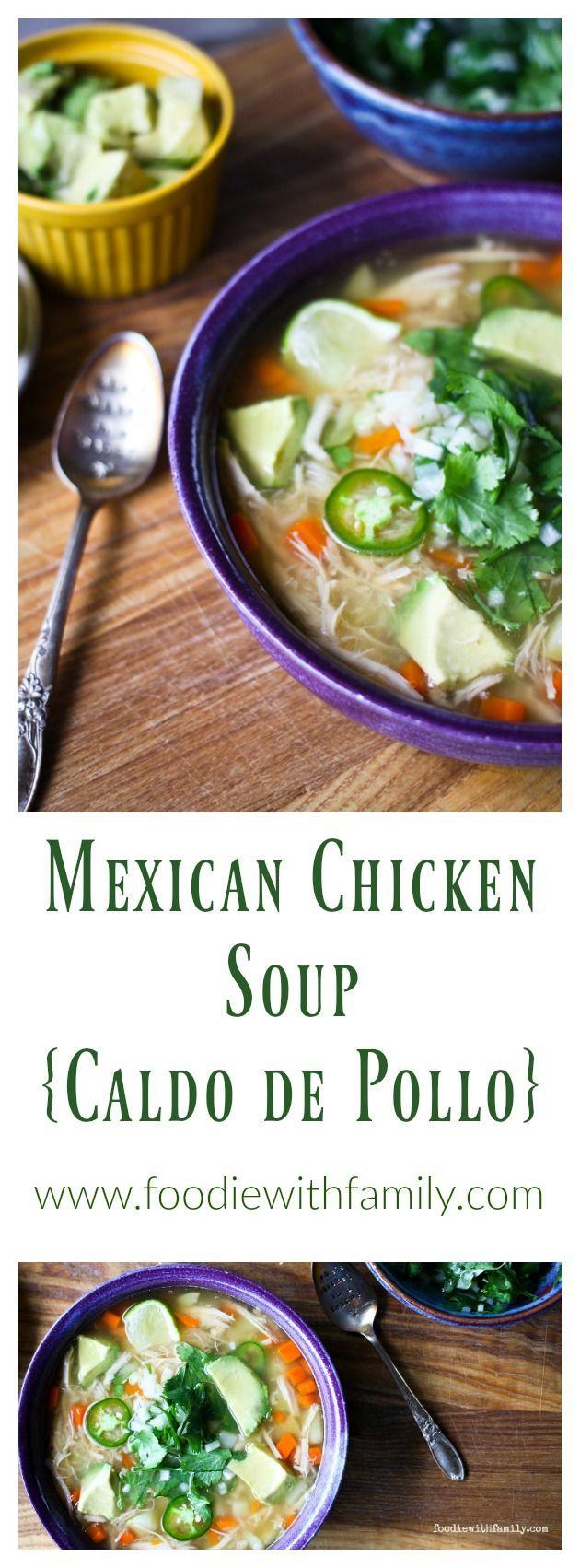 Mexican Chicken Soup {Caldo de Pollo}