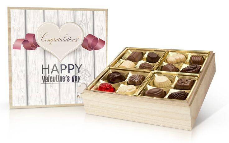 Valentýnská bonboniera 400g s belgickými čokoládovými pralinkami