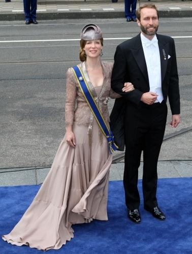 Dutch inauguration of King Willem-Alexander on 30 April 2013. Princess Margarita and husband.