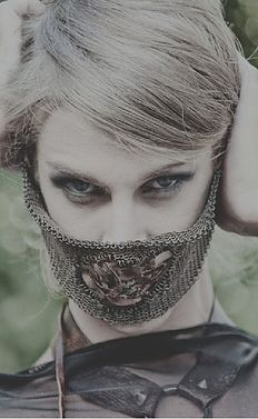 Copper and Steel Chainmail Face Mask with Genuine Leather Belt - Indigenous Jewels