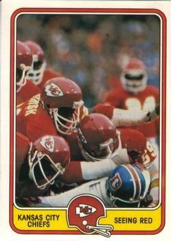 1981 Fleer Team Action #24 Kansas City Chiefs Defense Front