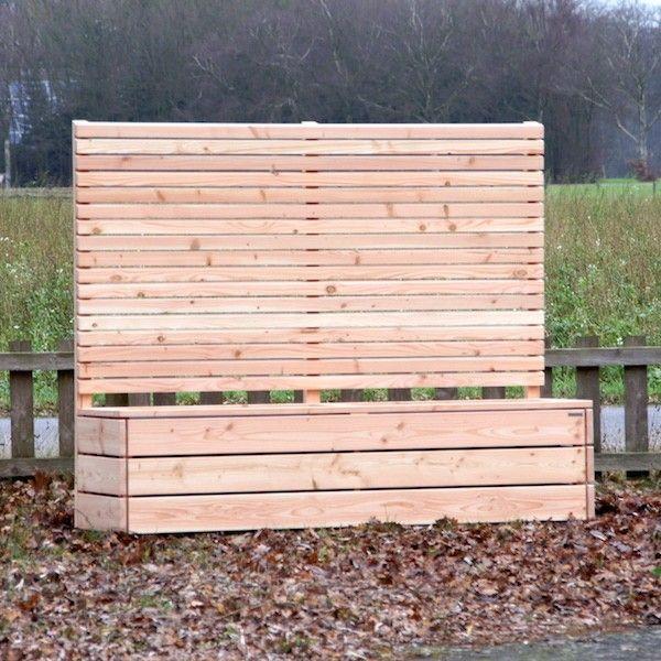 Pflanzkübel Holz mit Sichtschutz Sichtschutz lang