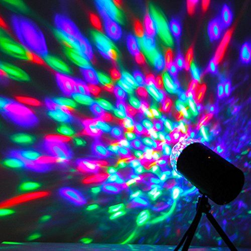 ANNT® Disco Dj Stage Lighting Rotating Strobe LED RGB Crystal Rainbow Color Effect Light KTV Xmas Party Wedding Show Club Pub (A)