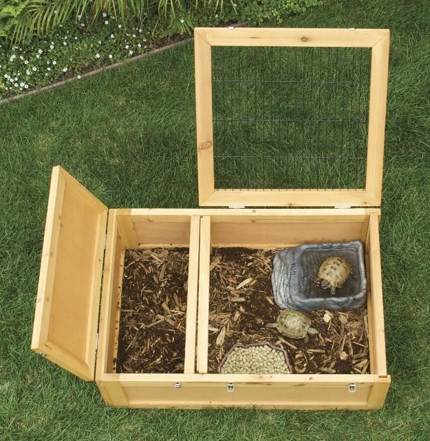 The Zoo Med Wood Tortoise House makes a perfect lifelong indoor habitat for your RTs. I'll be getting 2 of these for my Gunther and Lula <3