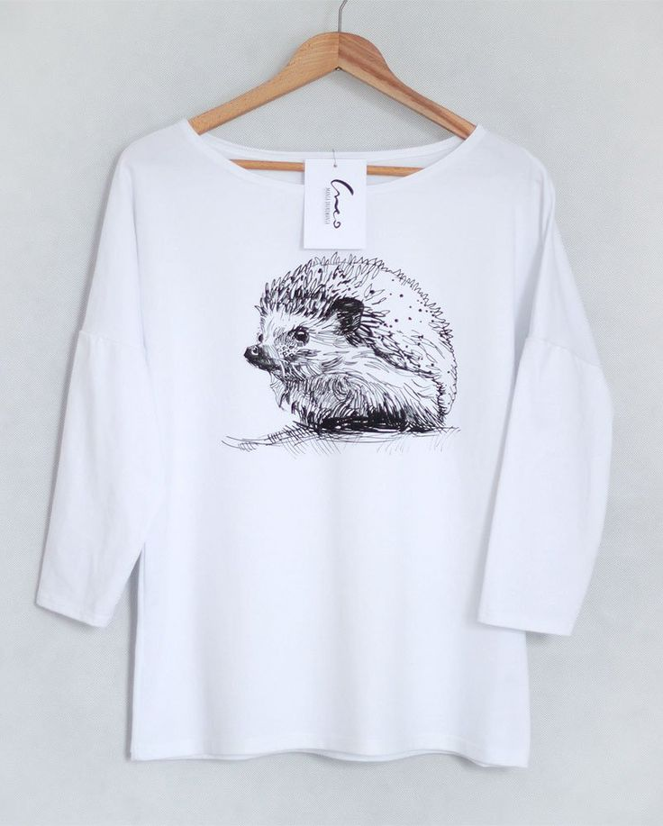 JEŻ bluzka oversize bawełniana SM biała (sprzedawca: Creo), do kupienia w DecoBazaar.com