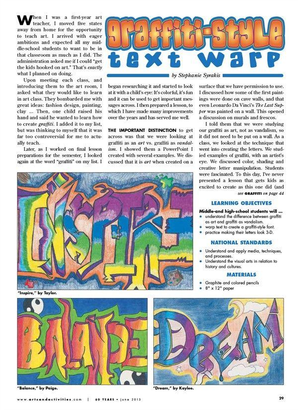 graffiti-style lesson