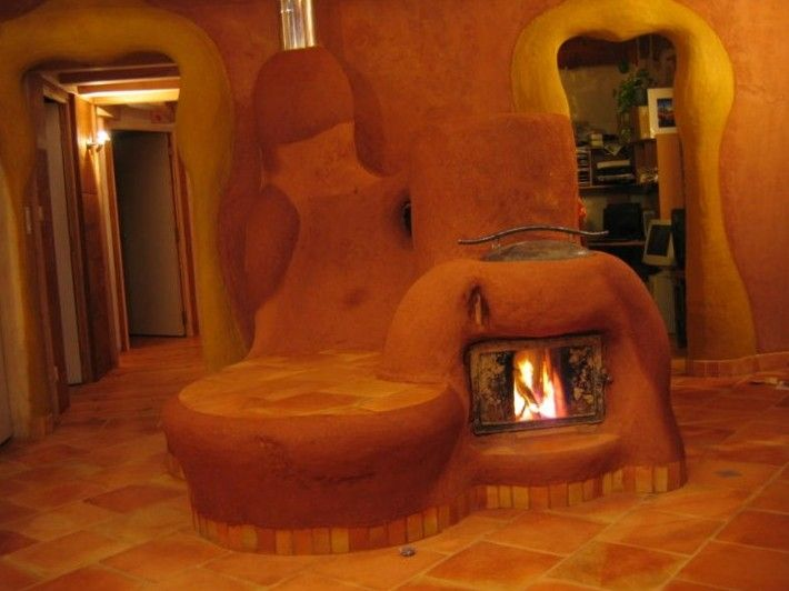 Best front room rocket stove with thermal mass heated seating