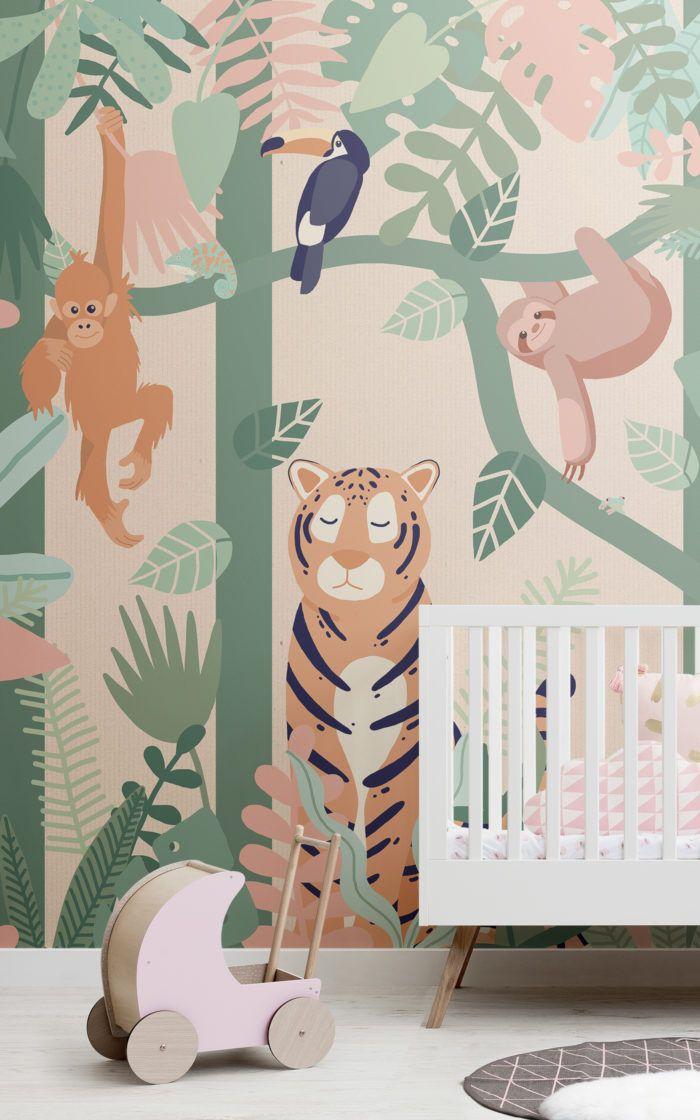 Kids Wallpaper Childrens Wallpaper Hovia Uk Playroom Wallpaper Jungle Mural Kids Room Murals