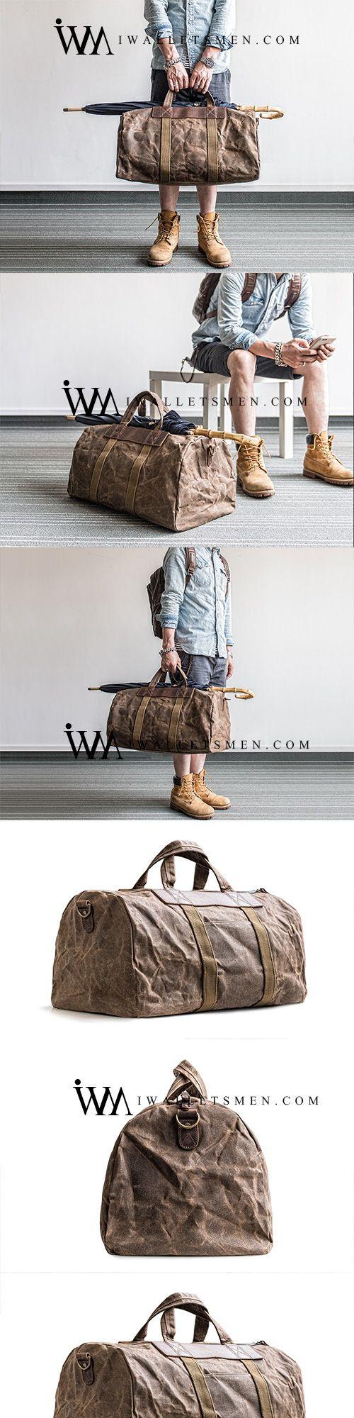CANVAS MENS COOL WEEKENDER BAG TRAVEL BAG DUFFLE BAGS OVERNIGHT BAG HOLDALL BAG FOR MEN