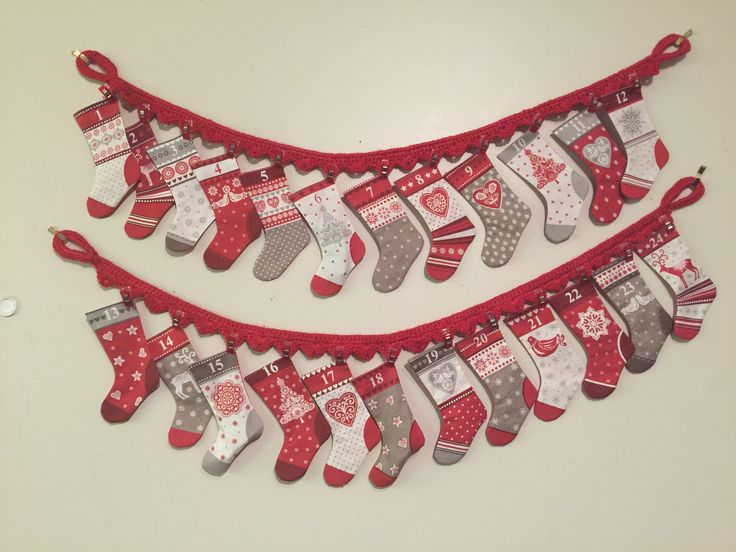 Christmas advent stockings for Corey and Becca's home 2016
